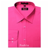FUSCHIA WRINKLE FREE MENS DRESS SHIRT Thumbnail