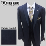 NAVY BLUE SOLID VESTED 2-BUTTON SUIT Thumbnail