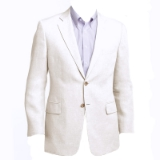 69. ADOLFO SOLID WHITE LINEN SPORTCOAT Thumbnail