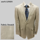 70. ADOLFO SOLID NATURAL LINEN SPORTCOAT Thumbnail