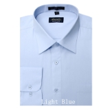 A12.LIGHT BLUE WRINKLE FREE MENS DRESS SHIRT Thumbnail
