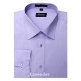 LAVENDER WRINKLE FREE MENS DRESS SHIRT Thumbnail