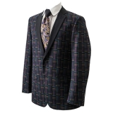 26. BLACK/MULTI PATTERNED PARTY SPORTCOAT Thumbnail