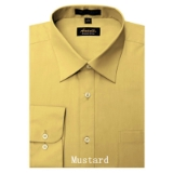 MUSTARD WRINKLE FREE MENS DRESS SHIRT Thumbnail