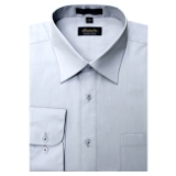 GREY WRINKLE FREE MENS DRESS SHIRT Thumbnail