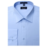 LIGHT BLUE WRINKLE FREE MENS DRESS SHIRT Thumbnail