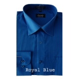 A17.ROYAL BLUE WRINKLE FREE MENS DRESS SHIRT Thumbnail
