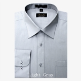 A13.SILVER/GREY WRINKLE FREE MENS DRESS SHIRT Thumbnail