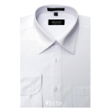A10.WHITE WRINKLE FREE MENS DRESS SHIRT Thumbnail