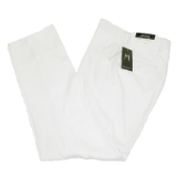 08. WHITE SOLID MENS REGULAR FIT PANTS Thumbnail