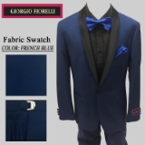 07. FRENCH BLUE BLACK SHAWL LAPEL MODERN FIT Thumbnail