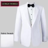 03. WHITE SOLID SATIN NOTCH LAPEL REGULAR FIT Thumbnail