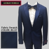 09. BLUE PINDOT SATIN PEAK LAPEL MODERN FIT Thumbnail