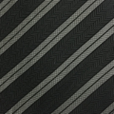 C037. BLACK/GREY STRIPE TIE & HANKY SET Thumbnail