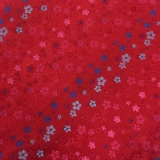 C091. RED/BLUE SMALL FLOWERS TIE & HANKY SET Thumbnail