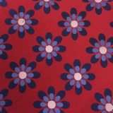 C090. RED/BLUE FLOWERS TIE & HANKY SET Thumbnail