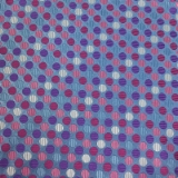 C080. PURPLE/BLUE/WHITE DOTS TIE & HANKY SET Thumbnail