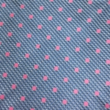 C067. LIGHT BLUE/PINK DOTS TIE & HANKY SET Thumbnail