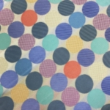 C082. MULTICOLORED CIRCLES TIE & HANKY SET Thumbnail