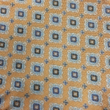 C118. LIGHT ORANGE/BLUE FLOWERS TIE&HANKY SET Thumbnail