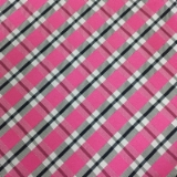 C102. PINK/GREY/WHITE PLAID TIE & HANKY SET Thumbnail
