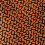 C115. ORANGE/BLACK JELLY BEAN TIE & HANKY SET Thumbnail