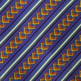 C074. PURPLE/GOLD STRIPE WEAVE TIE&HANKY SET Thumbnail