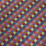 C113. MULTICOLORED CHECK TIE & HANKY SET Thumbnail