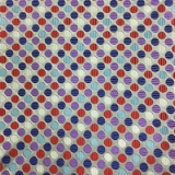 C084. RED/BLUE/WHITE DOTS TIE & HANKY SET Thumbnail