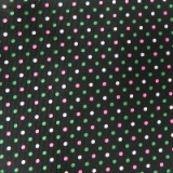 C02. BLACK/GREEN/PINK SMALL DOT TIE&HANKY Thumbnail