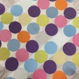 C083. MULTICOLORED CIRCLES TIE & HANKY SET Thumbnail