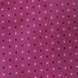 C099. FUCHSIA/NAVY/GREEN SMALL DOT TIE&HANKY Thumbnail