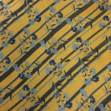 C124.YELLOW/BLUE PAISLEY STRIPE TIE&HANKY SET Thumbnail