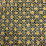 C125. YELLOW/BLUE GEOMETRIC PATTERN TIE&HANKY Thumbnail