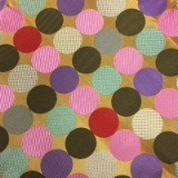 C123. MULTICOLORED CIRCLES TIE & HANKY SET Thumbnail