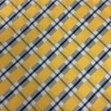 C128. YELLOW/GREY/WHITE PLAID TIE & HANKY SET Thumbnail