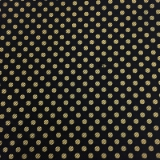 C119. BLACK/GOLD POLKA DOT TIE & HANKY SET Thumbnail