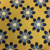 C126. YELLOW/BLUE FLOWERS TIE & HANKY SET Thumbnail