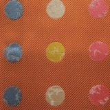 C116. ORANGE/MULTICOLOR BIG DOT TIE&HANKY SET Thumbnail
