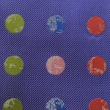 C075. PURPLE/MULTICOLOR BIG DOT TIE&HANKY SET Thumbnail