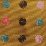 C122. YELLOW/MULTICOLOR BIG DOT TIE&HANKY SET Thumbnail