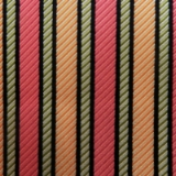 C73. ORANGE/CORAL/PINK STRIPE TIE & HANKY SET Thumbnail