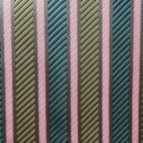 YELLOW/TEAL STRIPE TIE&HANKY Thumbnail