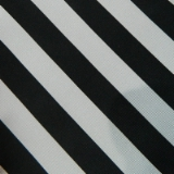 C15. BLACK/SILVER WIDE STRIPE TIE & HANKY SET Thumbnail