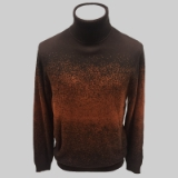 14.BROWN/COPPER PATTERNED TURTLE NECK SWEATER Thumbnail