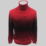 15. RED/BLACK PATTERNED TURTLE NECK SWEATER Thumbnail