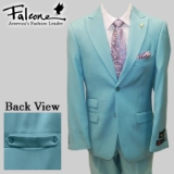 84. FALCONE TEAL SOLID SUIT WITH BACK BELT Thumbnail