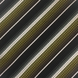 C110. BROWN/GOLD/WHITE STRIPE TIE & HANKY SET Thumbnail