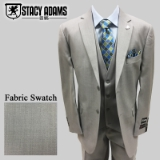 57. STACY ADAMS LIGHT GREY SOLID VESTED SUIT Thumbnail