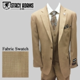 42. STACY ADAMS TAUPE SOLID VESTED SUIT Thumbnail